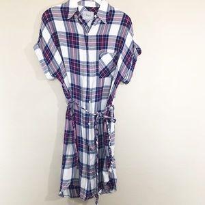 •Rails Savannah Plaid Cap Sleeve Dress • D013